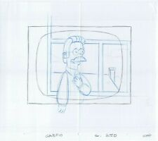 Simpsons Ned Original Art Animation Production Pencils Gabf10 Sc-250 Comp