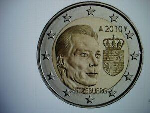 2 euro commémorative neuve LUXEMBOURG 2010 - les armoiries du grand duc