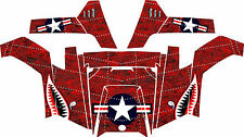 POLARIS RZR UTV SIDE x SIDE Graphics Decal Kit 2011 2012 Aircraft Jaws Red
