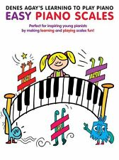 Denes Agay's Learning To Play Piano Learn BEGINNER EASY Piano Music SCALE Book