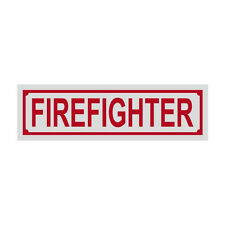 Firefighter Title Reflective Decal Sticker Helmet Window - Red Color