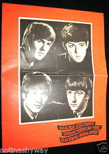BEATLES Concert Booklet Music Blackpool 60s Retro Book Gigg Group Tower The Who