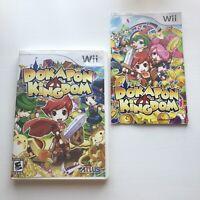 Dokapon Kingdom Nintendo Wii Authentic Original Case Artwork Manual ONLY NO GAME