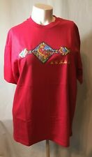 NWOT HANES BEEFY RED ADULT SIZE XL TEXAS CACTUS NATIVE INDIAN KOKOPELLI T-SHIRT