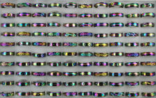 Wholesale Mixed Lots 40pcs Colorful Stainless steel Rotation Alloy Unisex Rings