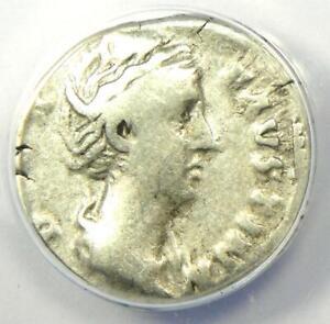 Diva Faustina AR Denarius Silver Roman Coin 147 AD - Certified ANACS F15