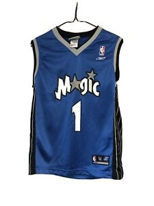Vintage Tracy Mcgrady Boys Orlando Magic Jersey Blue Medium P-526