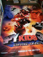 SPY KIDS 3-D GAME OVER VINYL UK QUAD FILM POSTERS (2) ORIGINAL