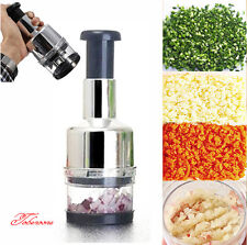 Kitchen Pressing Vegetable Onion Garlic Food Slicer Chopper Cutter Peeler D