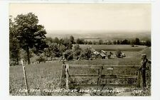 RPPC Farm View from Tollund's Point MT HOREB WI Vintage Photo 1940s