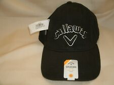 Callaway Golf Weather Series Heritage Twill Adjustable Hat Upf 30+ Black