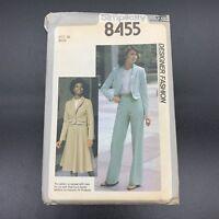 Simplicity Vintage Sewing Pattern #8455 Misses Jacket Skirt Pants Blouse Size 12