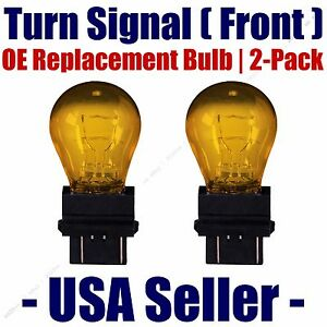 Front Turn Signal/Blinker Light Bulb 2pk - Fits Listed Isuzu Vehicles - 3757NAK