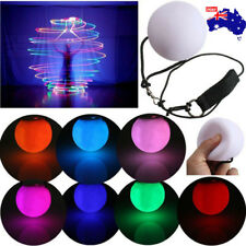Light Up Poi Ball Glow Rave Thrown Ball LED for Rave Belly Dancer Props AU STOCK
