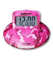 Sonic Alert SBP100 Portable Loud Vibrating Alarm Clock Pink Camo