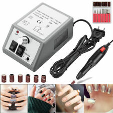 NEW Pro Electric Nail Drill Professional Manicure Pedicure File Acrylic Kit Gray