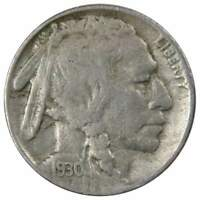 1930 S Indian Head Buffalo Nickel 5 Cent Piece AG About Good 5c US Coin