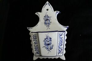 Real Portugal Wall Planter, Blue / White, for Horchow