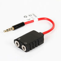 Aputure 3.5mm 1 to 2 Female Audio Cable Adapter Splitter Earphone PC Microphone