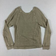 UGG Womens Size Small Long Sleeve V Back Top Shirt Weathered Beige Color. B4