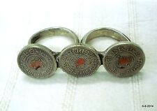 vintage antique tribal old silver double ring coin ring cocktail ring india ring