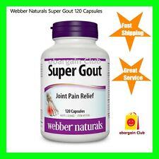 Webber Naturals Super Gout 120 Capsules Joint Pain Relief eBC