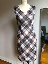 Dries Van Noten Dress 36 silk floral / plaid / sheer