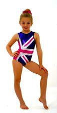 Union Jack purple Girls gymnastics leotard Size 40 - AXL