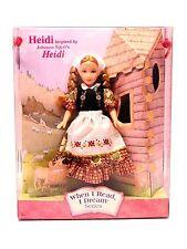 "Stacie as Johanna Spyri's ""HEIDI 2002 Alps Barbie WHEN I READ I DREAM_52900_NRFB"