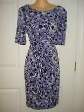 Connected Apparel Wear to Work Short Sleeve Side Wrap Sheath Dress Sz 6P