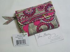 Vera Bradley PAISLEY MEETS PLAID Euro WALLET COIN Trifold 4 PURSE Backpack  NWT