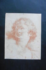 FRENCH SCHOOL 18thC - PORTRAIT OF CUPID - RED CHALK DRAWING