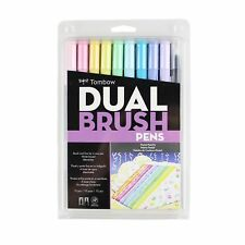 Tombow Dual Brush Pen Art Markers 10-Pack, Pastel New