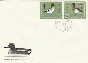 Poland FDC 1985 Polish Ducks, 3 Combo Covers!