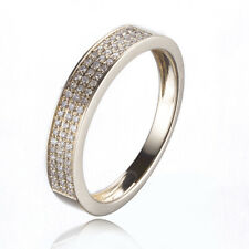 Sterling Silver Sparkled Natural SI/H Diamonds Engagement Wedding Fine Ring Band
