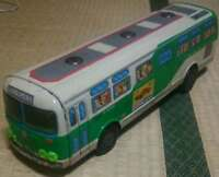 Ichiko Toei Bus One Man Bus Tin Plate Made in Japan Vintage rare Junk form JAPAN