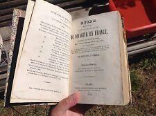 1842 GUIDE PITTORESQUE DU VOYAGEUR EN FRANCE PORTATIF ET COMPLET DE ST-FAGEAU