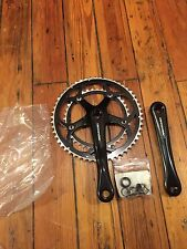 NEW Old Stock Black Cannondale 175mm EX Road Bike Crankset-Sugino-53/39t-JAPAN