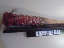 THE WALKING DEAD NEGAN'S LUCILLE BARBWIRE BAT PROP  blood spatter with stickers