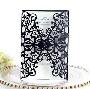 Laser Cut Wedding Business Invitation Card With Envelopes