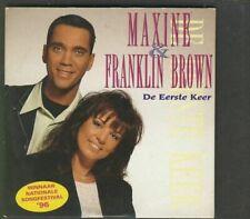 MAXINE & FRANKLIN BROWN De Eerste Keer CD EUROVISION dutch entry 1996