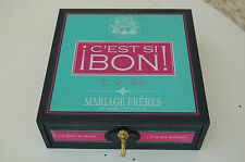 """Boîte à thé - Mariage Frères - BOITE A MUSIQUE - """"c'est si bon """"- bon état -/CV/"""