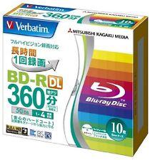 10 Verbatim BD-R DL 4X Rohlinge 50GB printable blank disc Blu Ray Japan