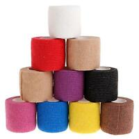 10 Rolls Cohesive Bandage 5cm X 4.5 M Sports Tattoo Wrap Self-Adhesive Elastic