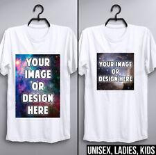Custom T Shirt Fashion Design Personalised Printed Mens Womens Kids Childrens