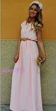 Zara Nude Maxi Dress Coral Peach Long Large 12 L New BNWT