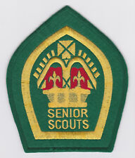 1950-60's UK / BRITISH SCOUTS - SENIOR QUEEN'S SCOUT TOP RANK AWARD Backpatch BP