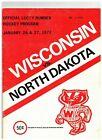 1973 Wisconsin Badgers vs North Dakota Vintage Hockey Program (JS)