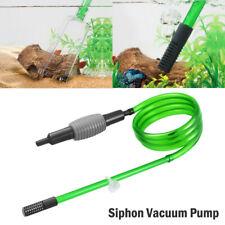 Vacuum Cleaner For Aquarium Fish Tank Extra Long Siphon Water Pump Gravel Sand