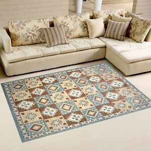5'6x8' Rug | Hand Made  Hand Knotted Wool Multi  Area Rug